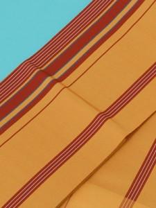 <正絹>本場筑前博多織(単)ゆかた帯(きつね色) 半幅帯 浴衣帯 袴用帯 袴帯 竺仙などの浴衣に最適です。