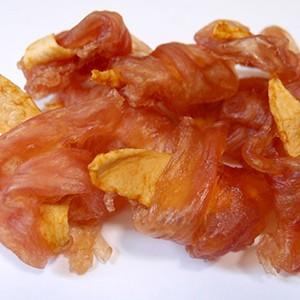 ワイエスワン デリシャスデュオ [そざいがちから]しっとりりんごササミ巻き 8本入 【国産】(犬用おやつ)