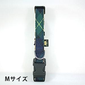 フェリーク タータンチェックカラー グリーン Mサイズ(犬用カラー) 【メール便可】