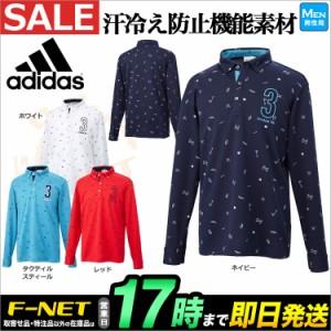 【セールSALE】アディダス ゴルフウェア CCP83 JP SP ツールモノグラム L/S B.D. シャツ ポロシャツ (メンズ)