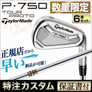 【カスタム】【限定】テーラーメイド P750 TOUR ツアープロト アイアン6本セット(#5〜PW) ダイナミックゴールド
