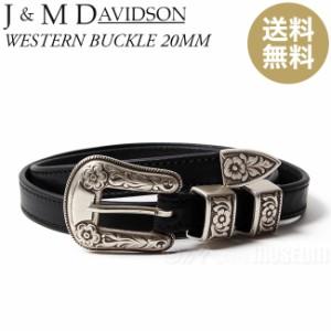 ジェイアンドエムデヴィッドソン 本革 レザーベルト J&M ENVELOPE BUCKLE TIP END 30MM 57301-5001 BLACK/9990【送料無料】