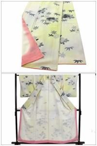 小紋  着物 きもの 正絹 菊 和装 リサイクル レディース 【中古】和服