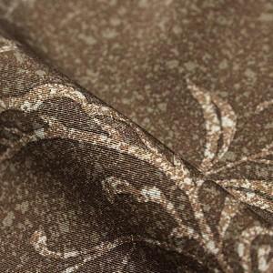 付下げ 正絹 着物 きもの たたき染 茶 袷 和装 リサイクル レディース 【中古】和服