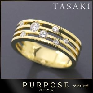 タサキ TASAKI ダイヤ 0.29ct リング 12号 K18YG 18金イエローゴールド ダイア 指輪 田崎真珠 レディース 【中古】BJ