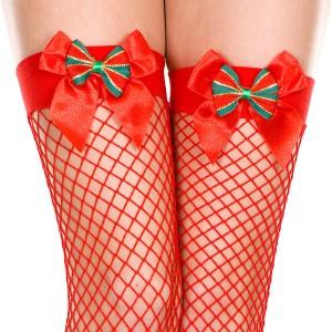 コスプレ サンタコス ストッキング 赤 リボン セクシー サンタクロース バレンタイン用 パンスト 過激 即日 コスプレ 衣装 コスチューム