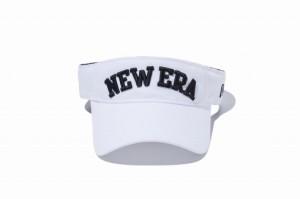 ニューエラ NEWERA サンバイザー Sun Visor ホワイト × ブラック