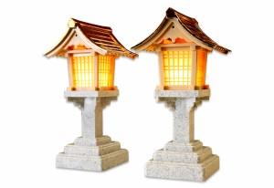 神棚用灯篭 パチッパチッ灯篭 1対 自動点灯