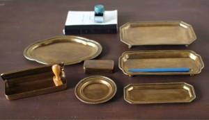 トレー トレイ 雑貨 真鍮 ステーショナリー ツールズブラススタンドトレイWIDE  sp-qeds1040