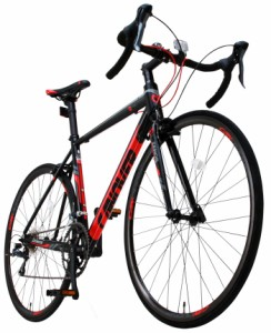 【完成品】ロードバイク 自転車 700c(約27インチ) ロードレーサー 超軽量 アルミフレーム シマノ16段変速ギア付き デュアルコントロール