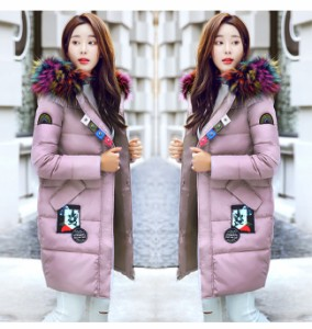 レディース服 女性 大人 冬服 コート アウター ダウンコート ダウンジャケット ファッション お洒落 厚手 個性 ロング丈 ストリート風
