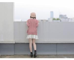 メール便送料無料 レディースファッション 女性 セーター ニット コート 前開き Vネック カーディガン カーデ