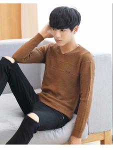 メール便送料無料 メンズファッション Vネック 色豊富展開 インナー シンプル派 プルオーバー トップス 韓国風 カジュアル 無地