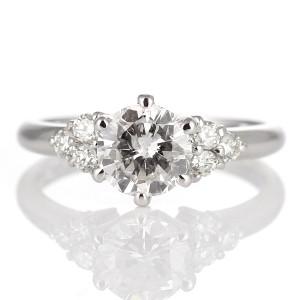 AneCan掲載 (Brand アニーベル) Pt ダイヤモンドデザインリング(婚約指輪・エンゲージリング) メレ  【DEAL】