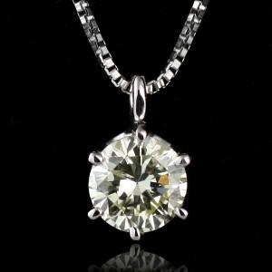 ネックレス 一粒 ダイヤモンド ネックレス K18ホワイトゴールド ダイヤモンドネックレス ダイヤモンド ダイヤ 0.1カラット