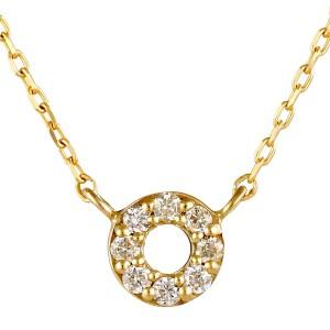 イエローゴールド 10金 K10 シンプル 円 ダイヤモンド ネックレス 人気 おすすめ  【DEAL】