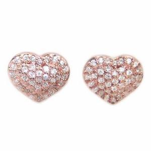 ( Brand Jewelry me. ) シルバー925・ピンクゴールドコーティングピアス