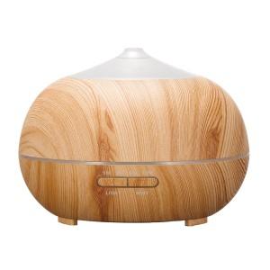 Tenswall アロマディフューザー 超音波式 加湿器 400ml 7色変換LED搭載 木目調