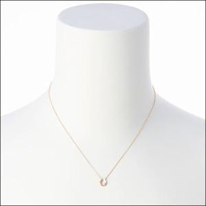 4℃ ヨンドシー K10ピンクゴールド馬蹄モチーフダイヤモンドネックレス