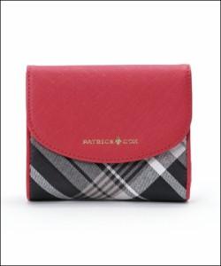 パトリックコックス クイーンチェック 折財布 ピンク