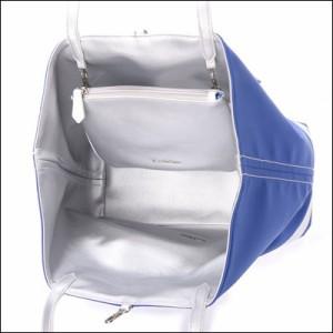 サマンサタバサ リバーシブルトートバッグ ブルックアスレチック ブルー