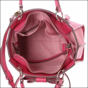 サマンサベガ 正規品 リボンハンドルバッグ ジャクリーヌ ダルカラー 中 ショルダーバッグ フューシャピンク