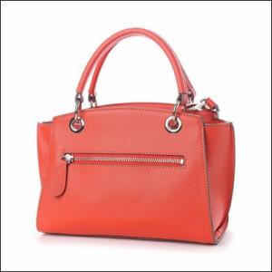 サマンサベガ 正規品 リボンハンドルバッグ ジャクリーヌ ダルカラー 中 ショルダーバッグ オレンジ