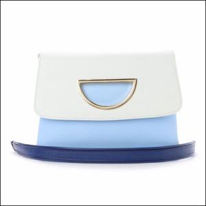 サマンサタバサ 正規品 ミランダ・カーコラボViolet Dチェーン付きクラッチバッグ ライトブルー