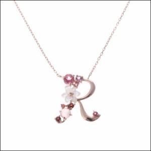 サマンサティアラ FlowerLetters scarlet R ネックレス ピンクゴールド