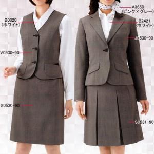 送料無料 事務服・制服・オフィスウェア  ピエ J0530-90 ジャケット 17号〜19号