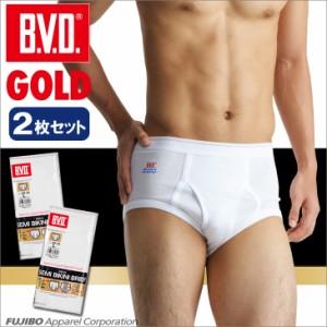 【30%OFF】B.V.D.GOLD 天ゴムスタンダードブリーフ 2枚セット 3L,4L BVD 【綿100%】 下着 【白】 大きいサイズ メンズG012-2P-3L