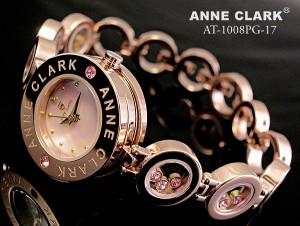 ANNE CLARK アンクラーク レディース腕時計 天然ダイヤ入り ムーヴィングストーン ウォッチ AT-1008-17PG AT-1008PG-1702P05Sep15