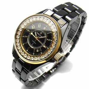 ANNE CLARK アンクラーク レディース腕時計 天然ダイヤ入り オールセラミック ウォッチ AU-1028-03BCG02P05Sep15