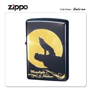 ZIPPO ジッポー ジッポライター ムーンライトシャドウ 2MLS-WO ウルフ 【ギフト/プレゼント/喫煙具】