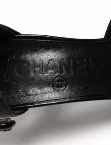 【中古】ABランク CHANEL シャネル ハイヒール パンプス レザー×エナメルレザー ブラック 表記 37 1/2C 参考サイズ 24.5cm 【本物保証】