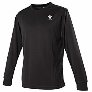 KELMEケルメ ロングTシャツ XLサイズ KCX120 (126)ブラック/ホワイト