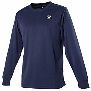 KELMEケルメ ロングTシャツ XLサイズ KCX120 (171)ネイビー/ホワイト