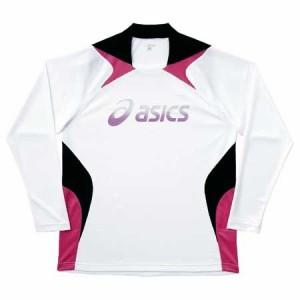 アシックス(asics) プラシャツ 長袖 XS601F ホワイト×BK L