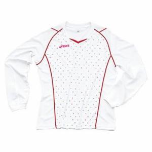 アシックス ドット柄 長袖 プラシャツ XW780N ASICS (01/ホワイト, O(XL))