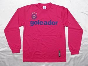 goleadorゴレアドール ベーシックロングスリーブプラTシャツ Lサイズ G-583 (22)ショッキングピンク