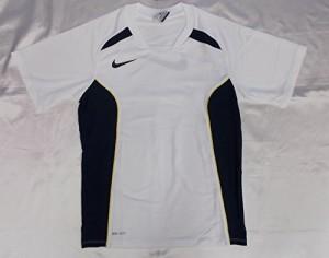 NIKEナイキ 半袖プラクティスシャツ Lサイズ 474027 (105)ホワイト/オブシディアン/オブシディアン