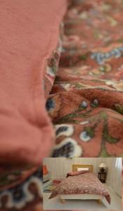 日本製京都西川綿パイル軽量タイプ(約900g) 羽毛専用暖か掛布団カバー シングルロングサイズ 150×210cm