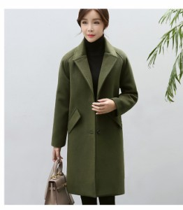 ファッション 韓国風 レディース服 スワガー・コート ローグコート 比翼仕立て しっかりと厚手  柔らかく肌触りも滑らか