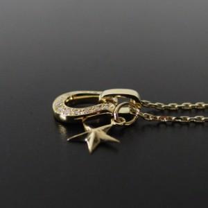 シンパシーオブソウル ホースシューアミュレット w/ダイヤモンド & スモールスターチャーム ネックレス K18イエローゴールド メイン 馬蹄