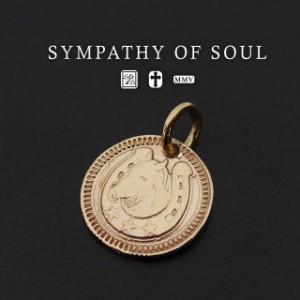 シンパシーオブソウル コインチャームk10ネックレス Ever Fortune Coin  - K10 メンズ レディース ユニセックス sympathy of soul ペンダ