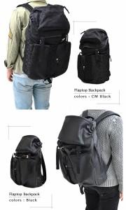 リュックサックバッグ 送料無料 タブレット専用ポケット搭載フラップトップバックパック