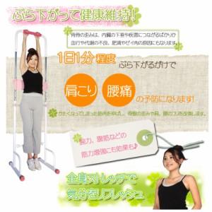 ぶら下がり健康器  1日1分のぶら下がりで骨盤のゆがみ矯正で美しい姿勢に!肩こり 腰痛の予防改善 硬くなった筋肉ほぐし・伸ばし腕力