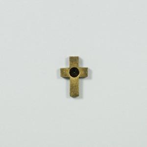 クロスモチーフパーツ BP-21 1個 アクセサリー パーツ アンティーク レザー チャーム ビンテージ メタル 羽 ハネ インディア