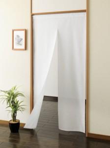 ロングのれん ホワイト(送料無料)(インテリア、のれん、暖簾、キッチン用品)