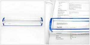 書類や新聞の読み取りに。 バールーペ(置き型ルーペ) (pt7137) (ルーペ、拡大鏡、作業工具)